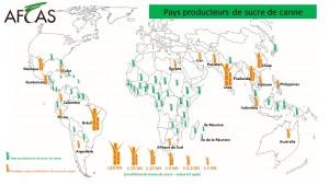 Carte Producteurs de sucre de canne 2016